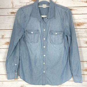 Vintage J. Crew Jean Denim Button Down Long Sleeve
